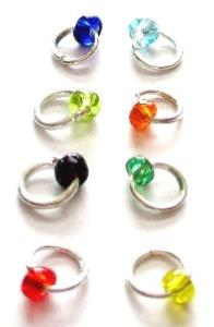 LOT 8 PIERCING D'ONGLE PERLE