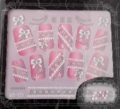 STICKERS 3D NOEUDS STRASS ROSE