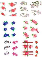 LOT 6 WATER DECAL FLEURS