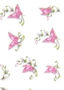 STICKERS PAPILLONS ROSE