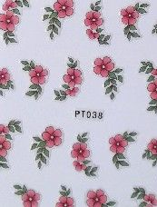 STICKERS FLEURS ROSE