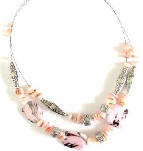 COLLIER PERLES ROSE
