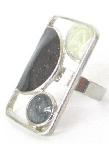BAGUE RECTANGLE NOIR