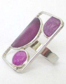 BAGUE RECTANGLE VIOLET