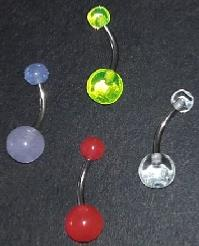 LOT 4 PIERCINGS  NOMBRIL
