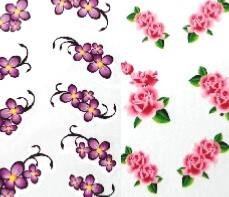 LOT 2 WATER DECAL FLEUR
