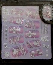 STICKERS 3D GOTHIC STRASS