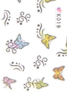STICKERS PAPILLONS COULEUR