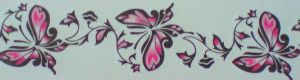 TATTOO TEMPORAIRE PAPILLON ROSE