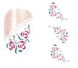WATER DECAL FRENCH FLEURS